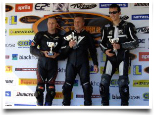 Clive racing and on the podium